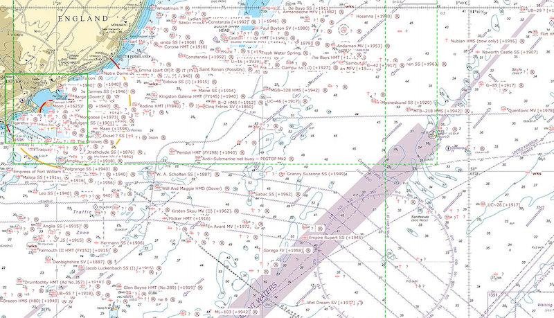 Shipwreck Sites Off Dover
